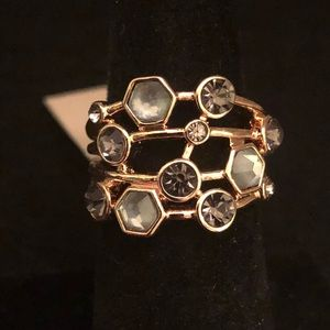 🆕CBC Rose Gold Toned Ring w/ Multi Colored Stones
